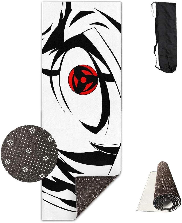 Black and White Red Eye Boy Sketch ECO Aqua Power Kinematic Iyengar Kundini Hot Pilates Gymnastics Hatha Yoga Mat Exercise Mat