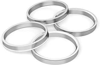 Hubcentric Rings (Pack of 4) - 56.1mm ID to 72.6mm OD - Silver Aluminum Hubrings - Only Fits 56.1mm Vehicle Hub and 72.6mm Wheel Centerbore - Compatible with Many Subaru Honda Acura Scion FRS