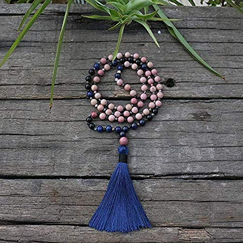Aluyouqi Co.,ltd Necklace 6Mm Natural Stone Beads Mini Necklace Mantra M 72 Bead Length 69Cm