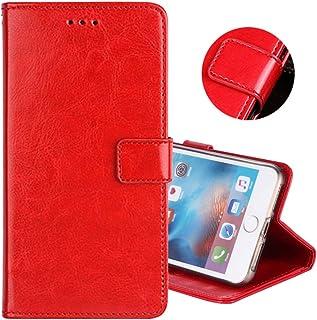ZYQ 赤 Gel シリコーン TPU Silicone レザー スマホ ケース 保護 カバー ケース Vivo Y55 レザー 耐汚れ 保護 手帳 財布型 レザー ウォレット おしゃれ 上質