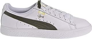 PUMA Clyde Core Lace Women's Shoes White/Olive/Gold 365737-02 (9 B(M) US)