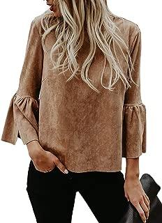 Best brown suede shirt womens Reviews