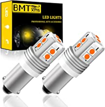 BMTxms Canbus BAY9S 64136 H21W LED Car Bulbs,3030 10SMD Chipsets Amber Yellow LED Bulb for Car Indicator Signal Light Back...