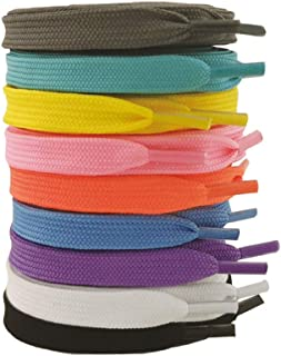 9 Pair Pack Narrow Flat shoe laces for sneakers 39inch(100cm) ~ 63inch(160cm) Multi-color