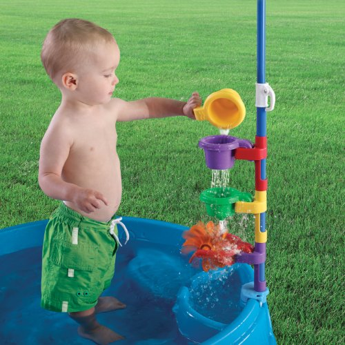 A toddler pool with shade is the perfect outdoor water play toy for toddlers