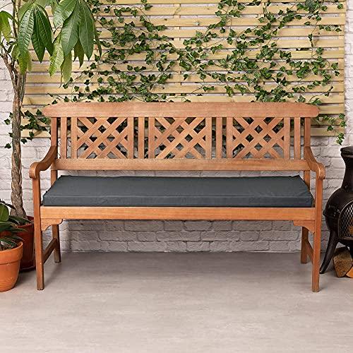 YIYI Cojín grueso para banco de jardín de 2 plazas, cojín de asiento para silla de jardín de 3 plazas, para exteriores, interior y exterior, impermeable, para columpio, tumbona, sofá o banco de madera