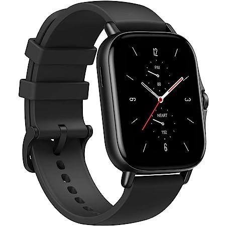 Amazfit GTS 2 Montre Connectée Femme Homme Smartwatch, GPS & GLONASS, SpO2, 3 Go Mémoire Musicale 5 ATM Etanche Montre Sport pour Android/iphone(Noir)