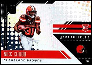 2018 Unparalleled NFL #216 Nick Chubb RC Rookie Cleveland Browns Rookie Panini Football Trading Card