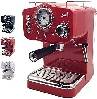 led24dn6t2km-501r Máquina de café expreso molido/barquillos 2filtros para 1/2tazas vaporizador para té O Capuchino Sistema de seguridad termómetro 1100W Bar 1.25L (roja)
