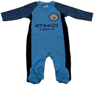 Manchester City FC Baby Sleep Suit 2018 Blue 6-9 Months