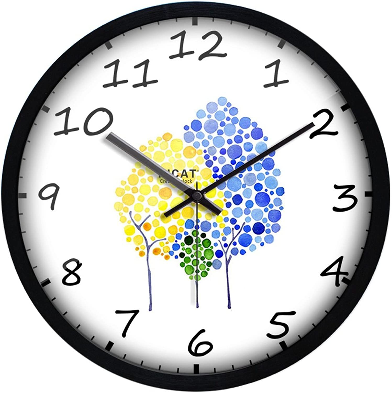 descuentos y mas SESO SESO SESO UK- Reloj de parojo creativo moderno de dibujos animados de cuarzo mudo personalidad nios relojes dormitorio sala de estar, 29 cm 12 pulgadas (Color   Clock-5)  Obtén lo ultimo
