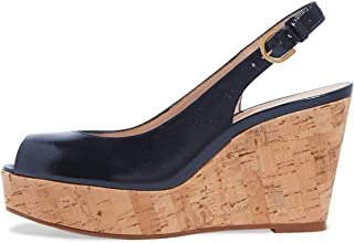 Women Peep Toe High Heel Wedge Sandals Slip on Cork Pumps Slingback Platform Slide Shoes Size 4-15 US