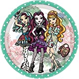 amscan Fabulous Ever After High Birthday Party Round Dessert Plates, Green, Paper, 7', Pack of 8 Party Supplies