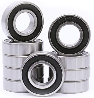 FKG 6207-2RS 35x72x17mm Deep Groove Ball Bearing Double Rubber Seal Bearings Pre-Lubricated 2 Pcs
