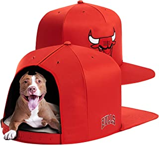 NAP CAP NBA Chicago Bulls Team Indoor Pet Bed, Red (Available in 3 Sizes)
