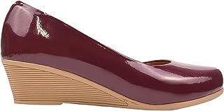 Sapato Feminino Scarpin Verniz Confort Redondo Eleganteria