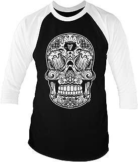 LOGOPOP St. Patrick's Sugar Skull Unisex Adult Raglan T-Shirt