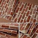 LZYMLG 10m Rustique Vintage 3d Faux Briques Papier Peint Rouleau De Vinyle Pvc Rétro...