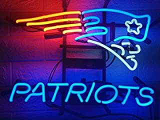 LDGJ Neon Signs Patriots Light Sign Home Beer Bar Pub Recreation Room Game Lights Windows Glass Wall Sign Party Birthday Bedroom Bedside Table Decoration