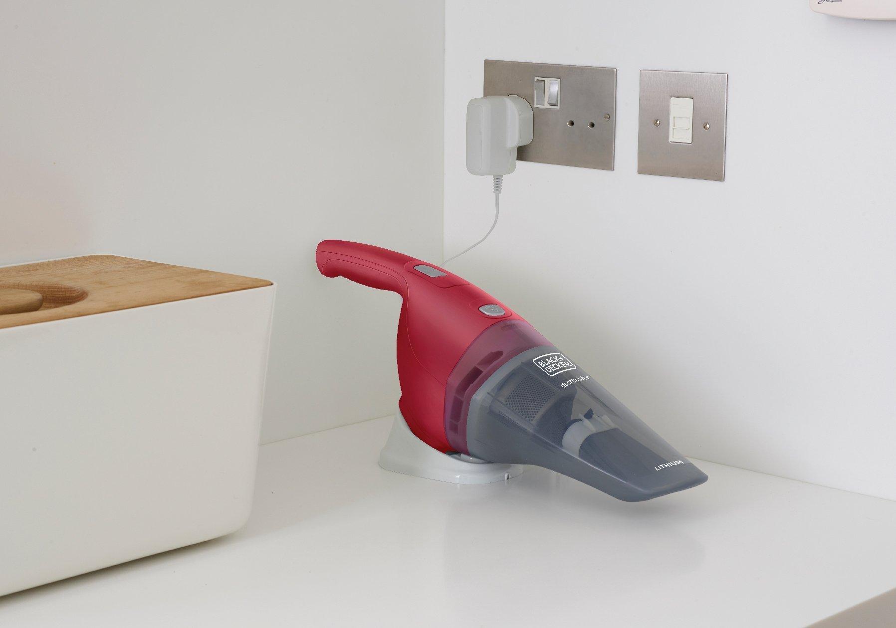 Black+Decker NVB-115-WA Aspirador de mano ciclónico inalámbrico, 7.5 W, 0.37 litros, 70 Decibeles, Rosa: Amazon.es: Hogar