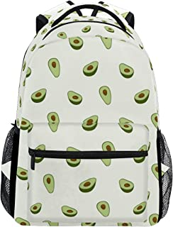 School Backpack Avocado College Bookbags Laptop Backpack Casual Daypack