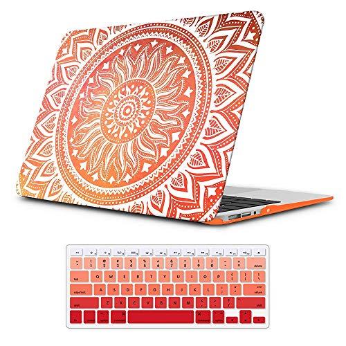 iLeadon MacBook Pro 13 pollici Custodia modello A1278 Cover rigida per tastiera + Cover per tastiera per MacBook Pro 13 ', Orange Mandala
