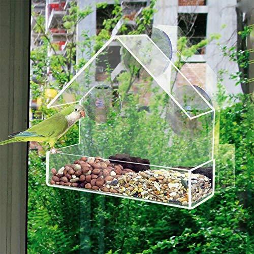 Greenfields Mangeoire traditionnelle pour oiseaux sauvages avec fenêtre pour oiseaux sauvages de luxe Attire une variété d'oiseaux rapide et facile à installer