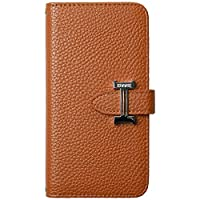Galaxy S9 SC-02K SCV38 ケース 手帳型 スマホケース シンプル カードポケット付き ブラウン [ZI:L](ジール) [L]