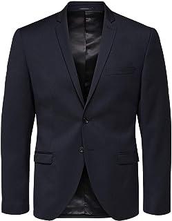 Selected Men's Slhslim-mylobill Navy Blazer B Noos Suit Jacket