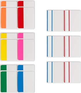 Gydandir 360 Pieces Sticky Page Markers Tabs 2 inch Index Tabs Muticolored Tape Flag Dispensers for Reading Notes,Books and File Folders,18 Sets 8 Colors