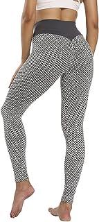 Tiktok Womens Butt Lift Scrunch Leggings, High Waist Workout Tight Tummy Control Anti Cellulite, Honeycomb Yoga Pants For ...