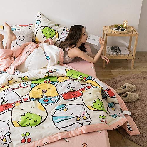 El Nuevo algodón Puro Xia Liang era un acondicionador de Aire de Dibujos Animados, una Colcha Fina y Fresca-Gato Dim Sum arroz_150 * 200cm / 1.1kg