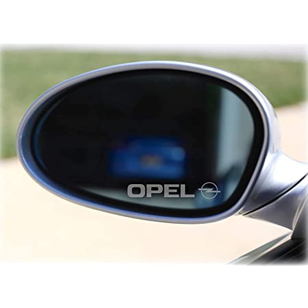 Myrockshirt 2 X Spiegel Aufkleber Spiegelaufkleber Opel Aufkleber Autoaufkleber Auto Tuning Sticker Aufkleber Mit Montage Set Inkl Estrellina Montage Rakel Estrellina Glücksaufkleber Auto