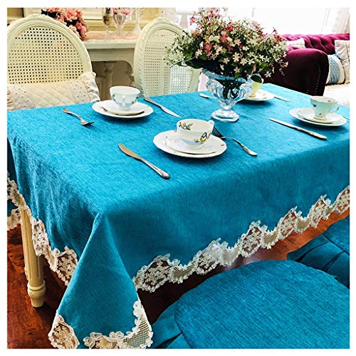 Tafelkleed van dik linnen, met kant, rechthoekig, netstof, kleine thee, keukendoek, lostgaming