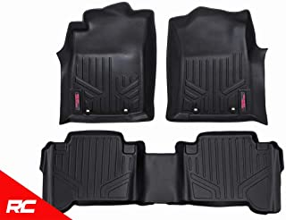 Rough Country Floor Liners (fits) 2007-2011 Tundra Double Cab Bucket 1st 2nd Row M-70713 Rugged Floor Mats