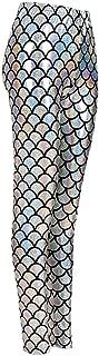 Hi Fashionz Mermaid Leggings Ladies Fish Scale Legging Womens Metallic Shiny Sparkle Disco Pants