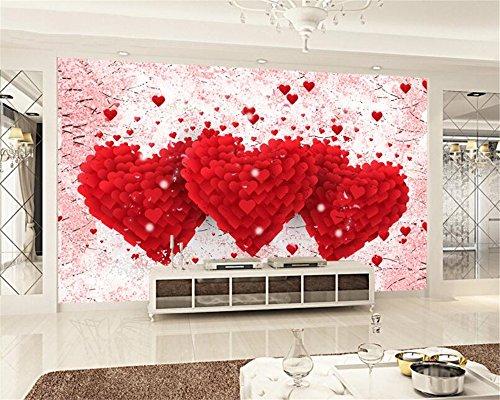 Papel Pintado,Mural,La Decoración De Las Habitaciones De Matrimonio Personalizados 3D Wallpaper Amor Romántico Corazón Hotel Tv Pared De Fondo Papel Tapiz Para Televisor Del Salón Dormitorio Fondo