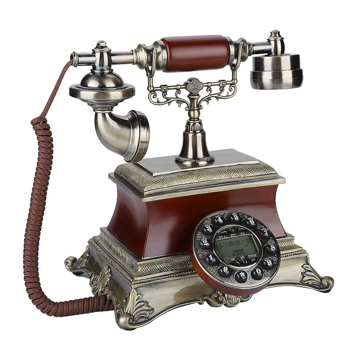 白雪姫実用的広大なレトロ電話機 VBESTLIFE FSK/DTMFシステム 骨董品 重厚感溢れる ブロンズカラー 素敵な インテリア ヨーロッパ風 レトロ電話機