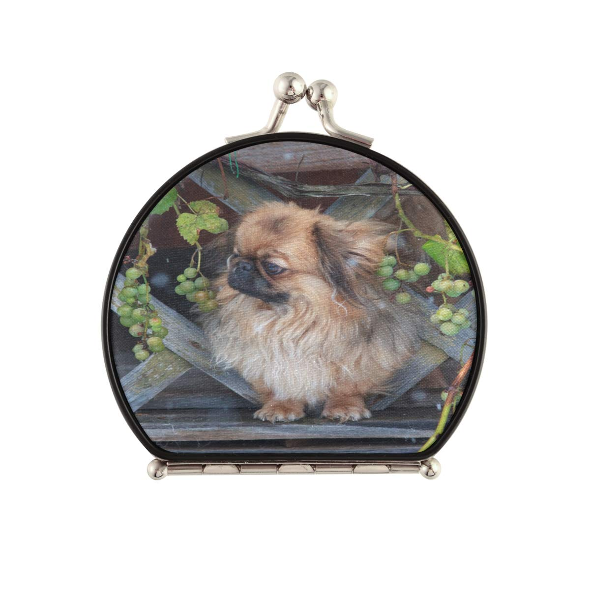 Magnifying Sale special price Compact Cosmetic Mirror Watching Sad First Pekingese Discount is also underway
