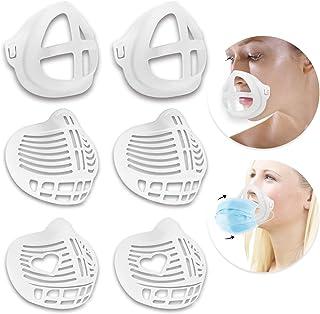 Koccido 3D Mask Bracket,6 Pcs Protect Lipstick Lips Mask Bracket Internal Support Frame,Nose Breathing Smoothly Face Mask Bracket