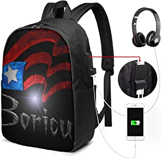 Cartoon Llama Alpaca Seamless Pattern Laptop Backpack with USB Charging Port College School Bookbag Travel Bag for Men Women