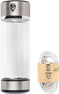 Botella de agua - Carga USB Filtro purificador de agua con hidrógeno rico Botella de vidrio Taza portátil Lonizer