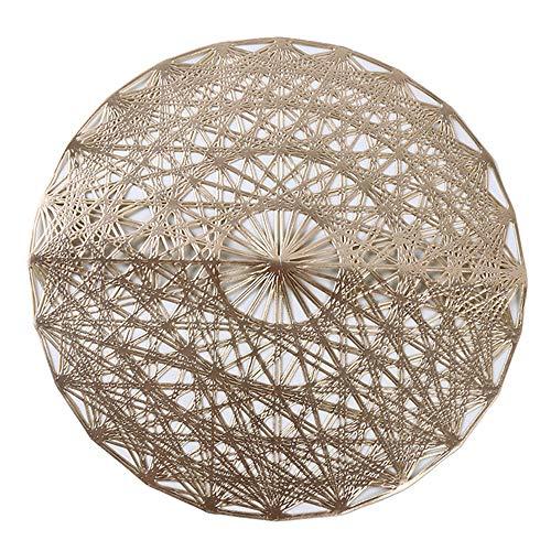 Ao Tuo Placemat voor Eettafel PVC Plastic Holle Isolatie Ronde Barok Mediterrane Coaster Pads Tafelschaal Matten 38cm 38cm 1