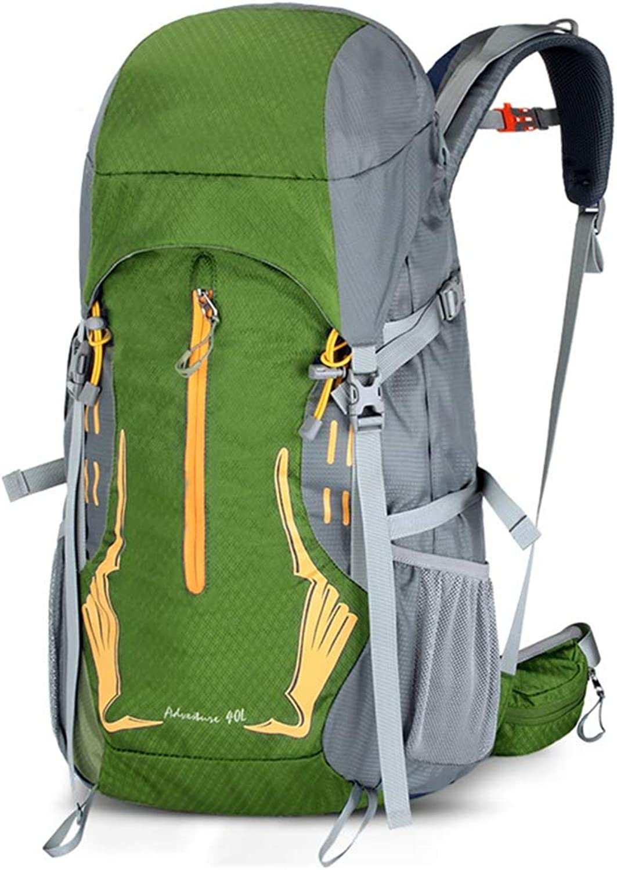 Trekking Rucksacks Mountaineering Bag Outdoor Backpack Mountaineering Bag Shoulder Waterproof Large Capacity 40L Hiking MultiFunction Men and Women Travel Bag (color   Green, Size   65  32  21cm)