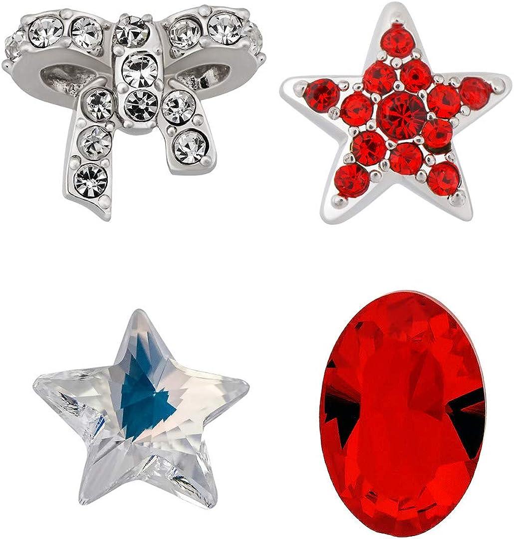 Swarovski Crystal Treasure Plated Charms