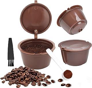 FOROREH 3PCS Filtres à Café Non Jetables, Réutilisables Capsules Rechargeables à Cafe, Compatibles avec Machines Nescafe D...