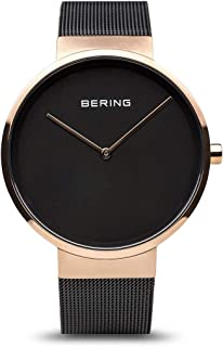 BERING Time 14539-166 Classic Collection Watch with Mesh Band and Scratch Resistant Sapphire Crystal. Designed in Denmark.