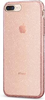 Spigen Liquid Crystal [2nd Generation] Designed for Apple iPhone 8 Plus Case (2017) / Designed for iPhone 7 Plus Case (2016) - Glitter Rose Quartz