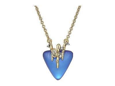 Alexis Bittar Navette Crystal Triangle Pendant (Iridescent Iris) Necklace