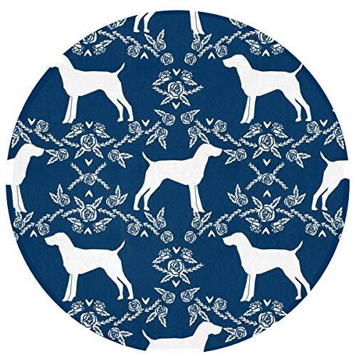 LINFENG Beste Spielmatte Teppich für Kinder Dekorationen & Tipi Zelt Dackel Hund Floral Area Rug 23,6 x 15,7 Zoll Runde Matte für BedLiving